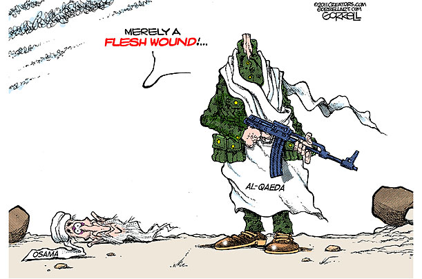 IS ISI still in charge of these gun-toting terroristas? I doubt ... (Cartoon by Gorrell Art / Creators Syndicate Inc.; cartoon courtesy timeinc.net). Click for larger image.