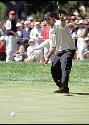 tiger woods swing 2000. Tiger Woods, 2000 U.S. Open
