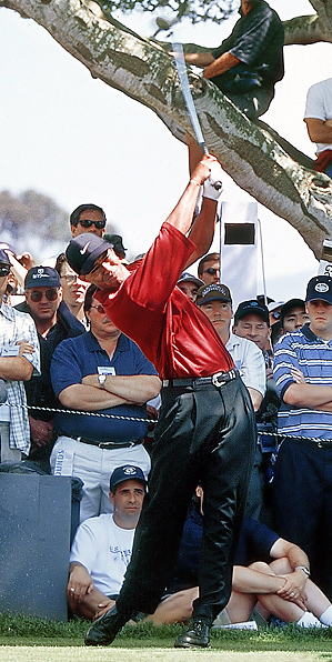 tiger woods swing sequence 2000. Tiger Woods, 2000 U.S. Open at