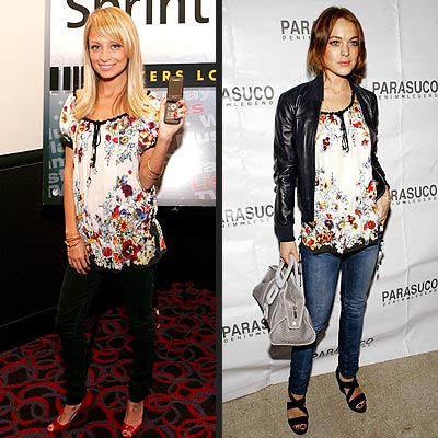 Fashion Faceoff | Lindsay Lohan, Nicole Richie