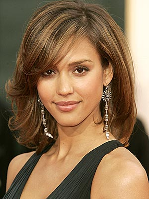 good hairstyle for someone with a long face, but fine, thin hair
