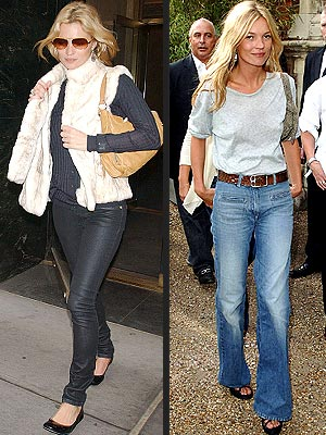 kate moss style. No More Skinny Jeans for Kate?