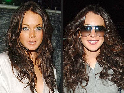 lindsay lohan hair colour. Lindsay emerged from her hair