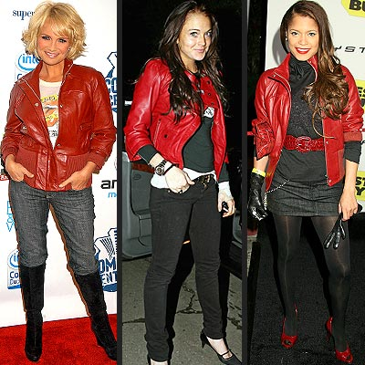 2006 Summer Fashion Trends on Get The Look   Lindsay Lohan S Red Leather Jacket   Catwalk Queen