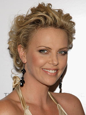 Charlize Theron, Holiday Hairstyles CHARLIZE THERON