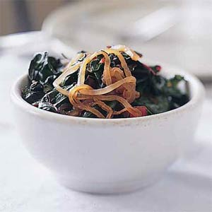 Swiss Chard with Onions