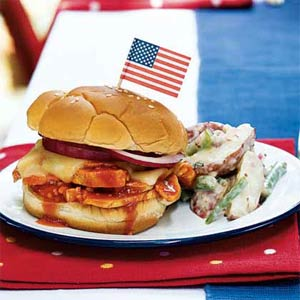 Honey-Chipotle Barbecue Chicken Sandwiches from Cooking Light