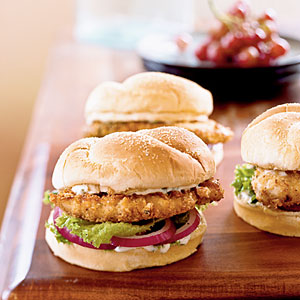 Spicy Chicken Sandwiches with Cilantro-Lime Mayo from Cooking Light