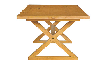 Despite Its Zen Like Aesthetic, The X Table From Ethan Allen U2014 Made Of  Appalachian Hardwood And Topped With A Water Based Finish U2014 Gets Its  Central Graphic ...