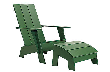 A New Take On Classic Adirondack Furniture, Made Out Of Recycled  High Density Polyethylene Milk Jugs. The Standard Adirondack Chair And  Ottoman Come In A ...