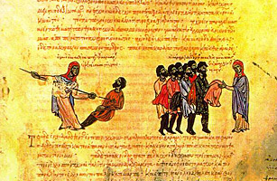 Varangian Guardsmen, an illumination from the Skylitzis Chronicle.