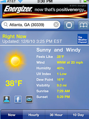 WEATHER CHANNEL - 50 Best iPhone Apps 2011 - TIME