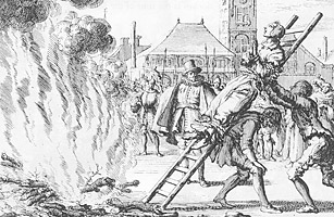 Top 10 End of the World Prophecies anabaptism Vlasteran burned alive in 1571 for the heresy of Anabaptism. From 'Mirror Martyrs', 1660. Anabaptists rejected infant baptism