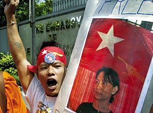 The ASEAN has refused to act on Burma's crackdown on protests