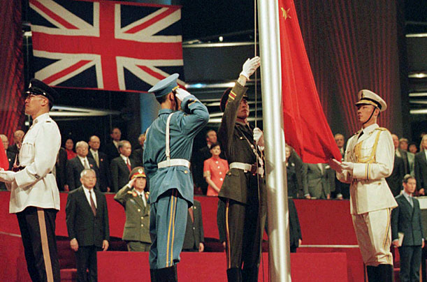 Hong Kong handover in 1997