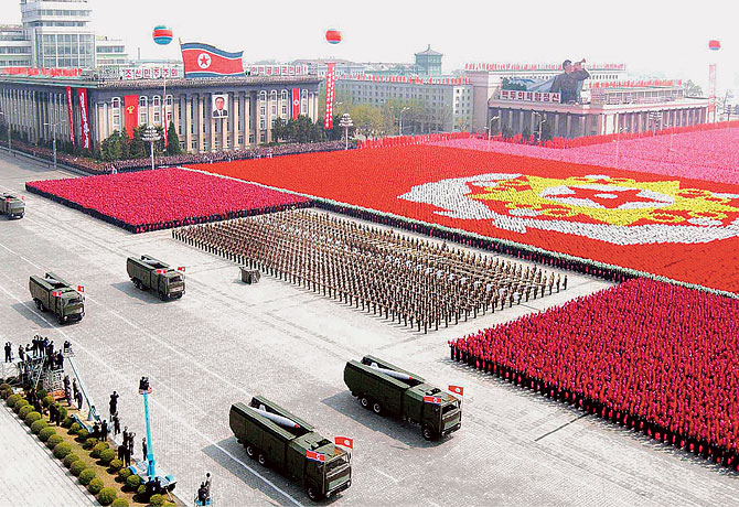north korean army parade. North Korea military parade