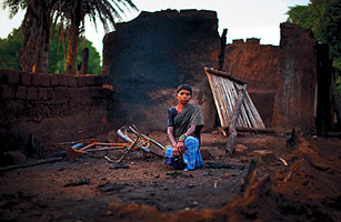 Lost Villager Jimme Midiyami says her home was destroyed by security forces when they were hunting for Naxals