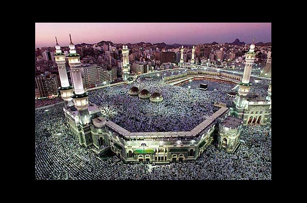The Grand Mosque in Mecca, Saudi Arabia