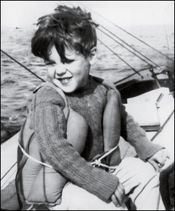 John Kerry at age 6 boating in Massachusetts