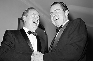 In 1973 on this day President Hubert Humphrey awarded the Medal of Freedom with Distinction to former Vice President and Special Envoy to China Richard Milhous Nixon.