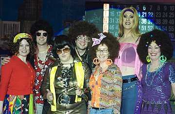... with costume contest winners at Lifelong AIDS Alliance's Gay Bingo.