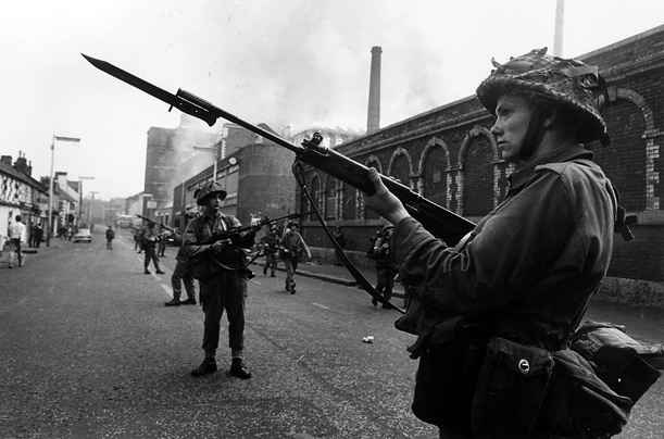 Belfast Northern Ireland British troops