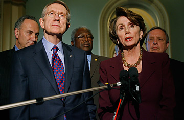 Harry Reid and Nancy Pelosi