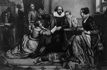 the conspiracy in the play hamlet by william shakespeare William shakespeare as engraved by samuel cousins, after a painting attributed  to joseph taylor  hamlet contemplating suicide in his famous soliloquy   cassius, priming brutus to join the conspiracy against caesar.