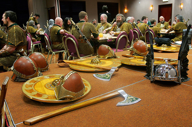 Vikings sit down to breakfast