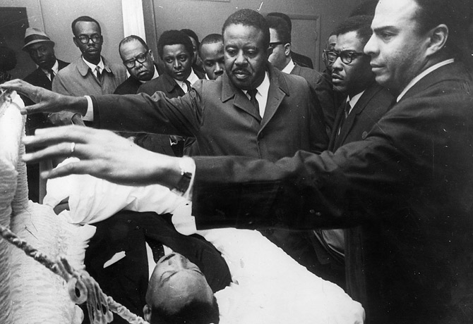 Martin Luther King Jr Dead Pictures Getty  King s aides