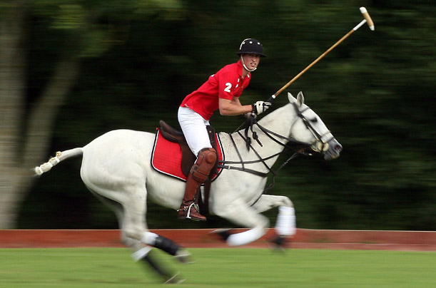 Prince William on a polo field
