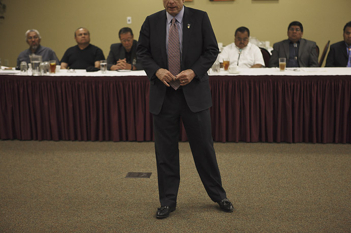 Republican presidential candidate, John McCain addresses American Indian tribal elders in Albuquerque, New Mexico.