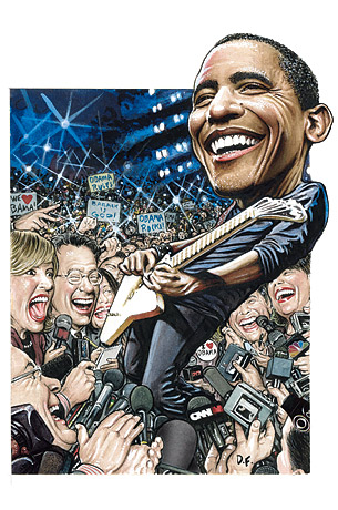 obama the rock star