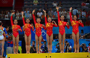China gymnastics girls