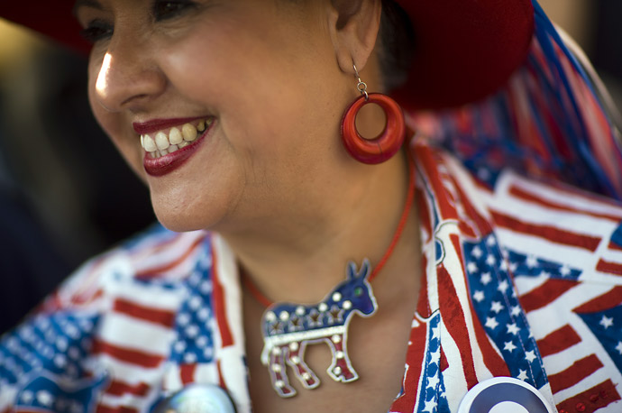 A Texas delegate at the 2008 Democratic National Convention in Denver, Colorado.