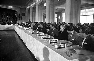 Representatives for the Bretton Woods Conference in 1945 to sign the Bretton Woods Agreement to create financial relations after WWII (4)