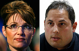 Alaska Governor Sarah Palin and Alaska State Trooper Mike Wooten.
