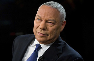 Former Secretary of State Colin Powell speaks during a taping of NBC's <SPAN STYLE='font-style: italic'>Meet the Press</SPAN>on Oct. 19