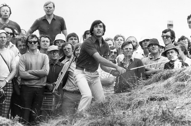 The young Ballesteros in the sandhills of Royal Birkdale, Southport, England at the Open Championship