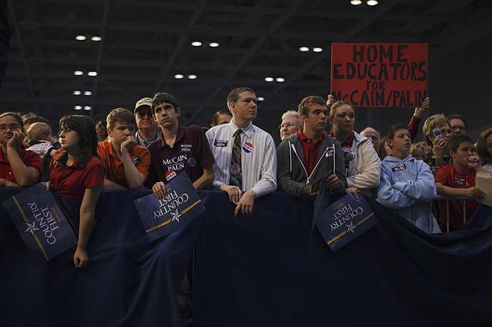 About 15,000 supporters turned out to see John McCain McCain and Sarah Palin at the Virginia Beach Convention Center.