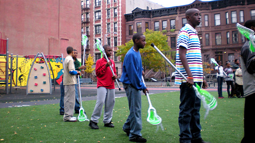 At New York City's Future Leaders Institute in Harlem, students, who previously hadn't even seen a Lacrosse stick, are learning the game.