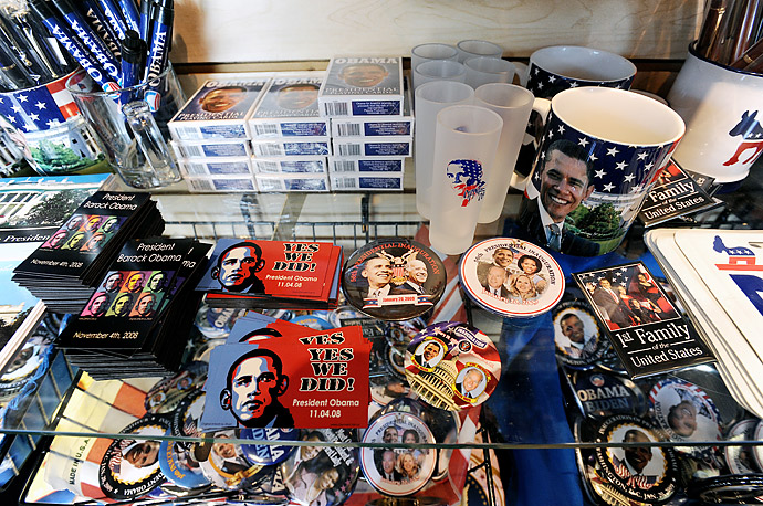 All sorts of Obama memorabilia can be found for sale in stores prior to the inauguration , November 20, 2008 in Washington, DC.