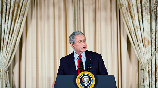 george bush speech analysis By president george w bush and senator john kerry to the republican and   contrastive study of the acceptance speeches delivered by president george w.