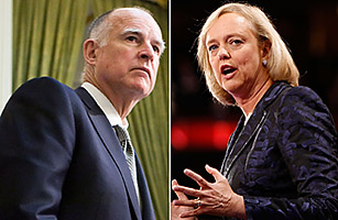 california governors Attorney General Jerry Brown Meg Whitman, former President and CEO of EBay