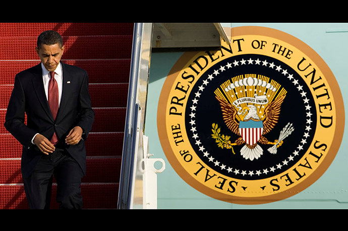 President Obama arrives at Andrews Air Force Base after his trip to  Elkhart, Indiana.