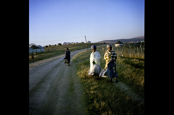 Xhosa women in Nelson Mandela's ancestral village, Mvezo, in the