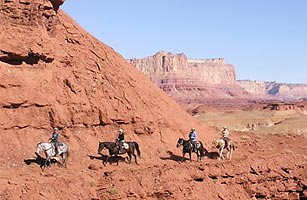 Hondoo Rivers & Trails guides riders through the red-rock canyons of Utah's San Rafael Swell