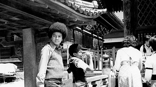 The 'Jackson 5' holds a press conference before their concert on May 7, 1973 in Tokyo