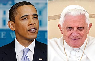 President Barack Obama and Pope Benedict XVI