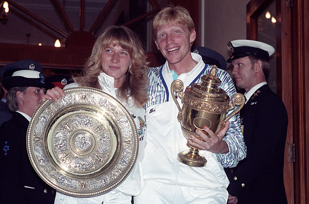 Germany's two best players, Boris Becker and Steffi dominated at Wimbledon, winning their respective singles titles